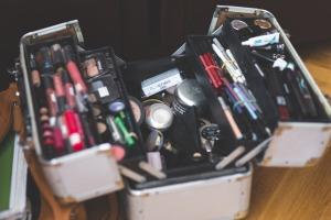 Make Up Make-up Makeup Case Opened Professional