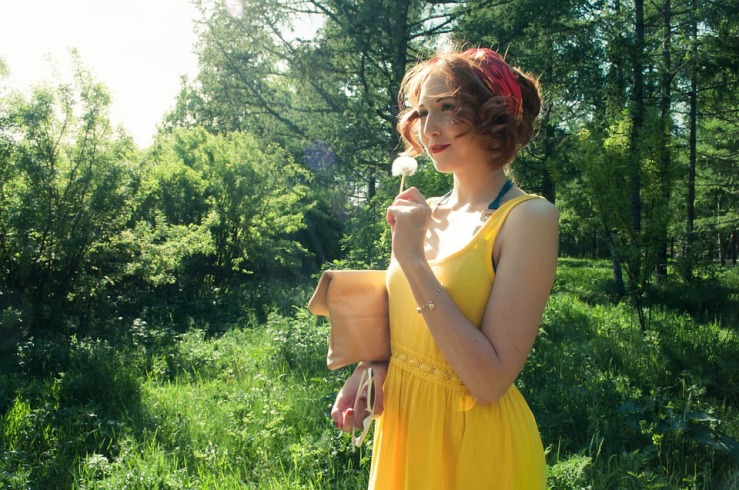 Stroll Yellow Dandelion Summer Dress Girls Sun